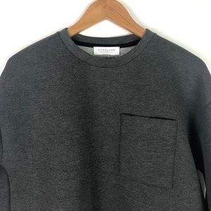 Everlane Tops - Everlane The Street Fleece Pocket Pullover Gray